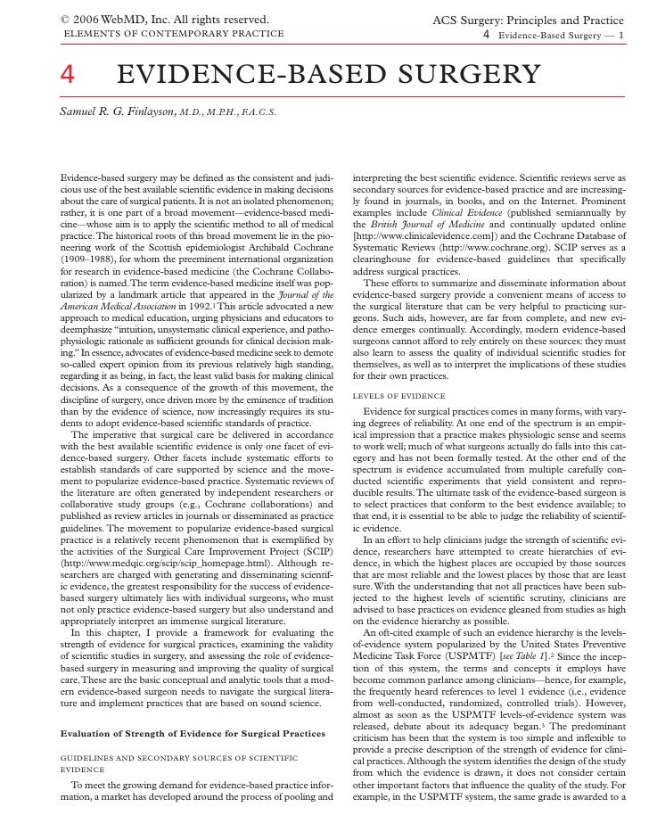 Acs0004 Evidence Based Surgery