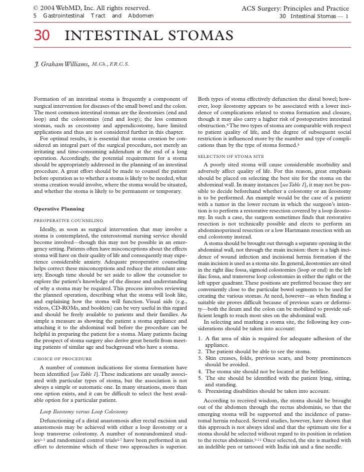 Acs0530 Intestinal Stomas 2004