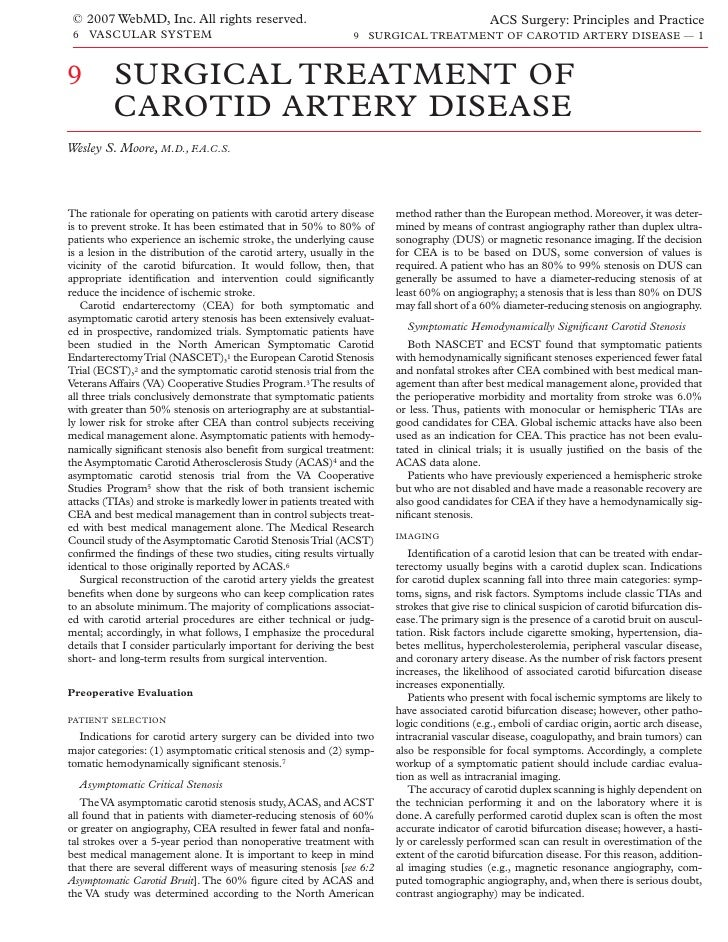 © 2007 WebMD, Inc. All rights reserved.                                                      ACS Surgery: Principles and P...