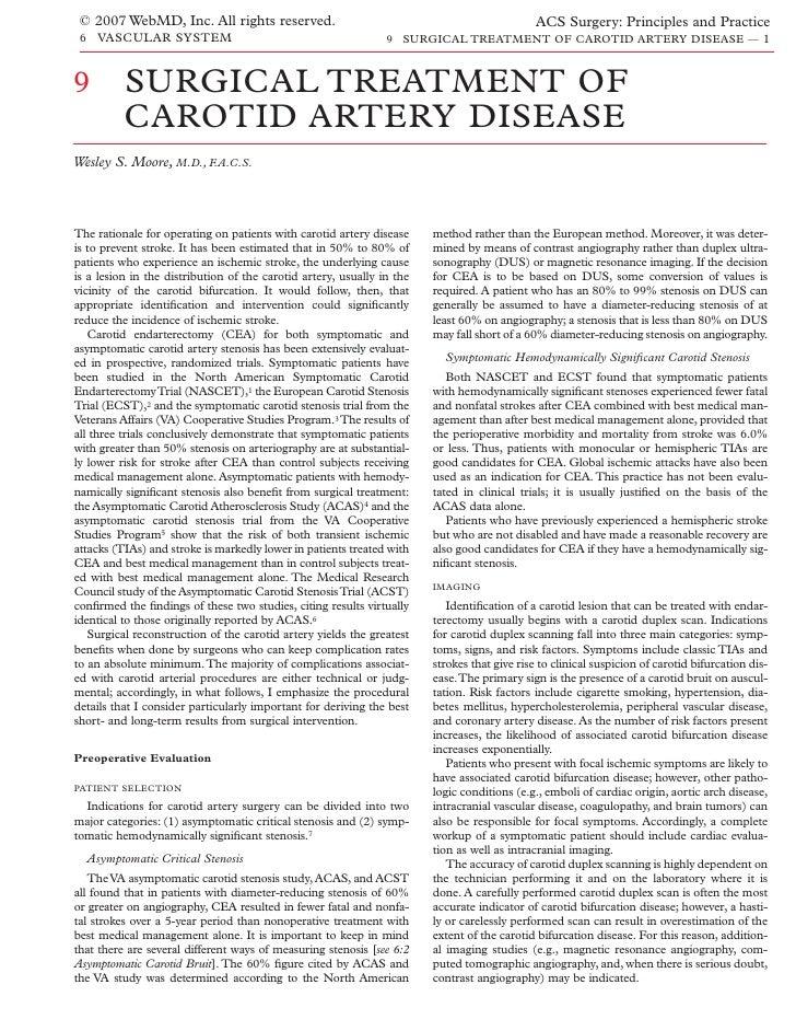 Acs0609 Surgical Treatment Of Carotid Artery Disease