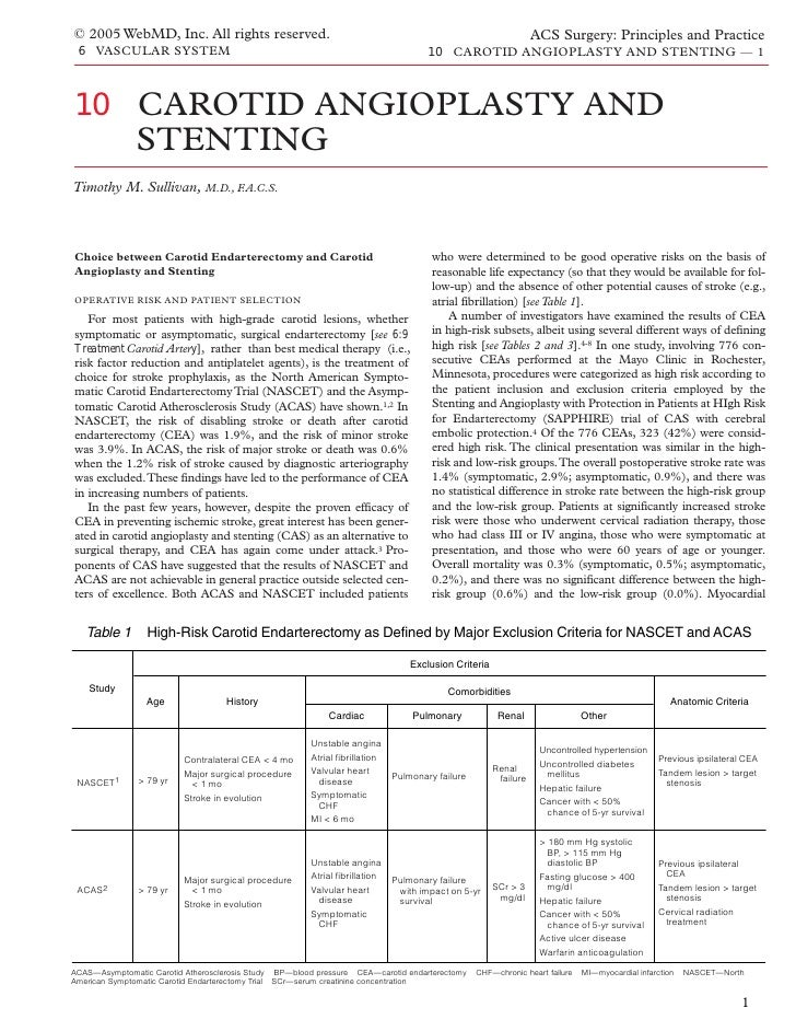 Acs0610 Carotid Angioplasty And Stenting