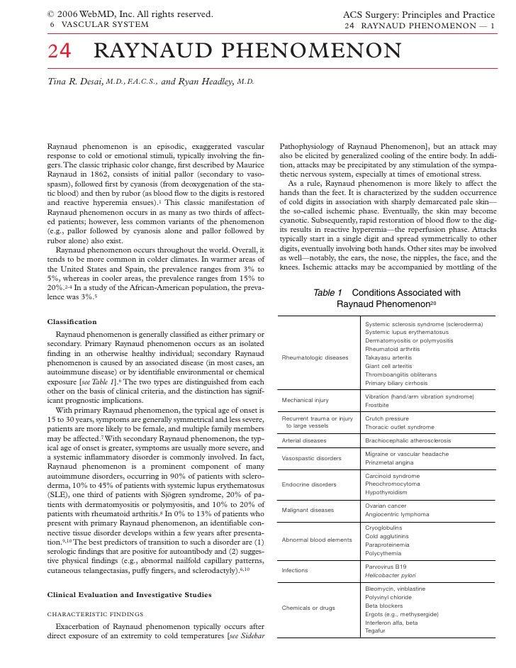 Acs0624 Raynaud Phenomenon