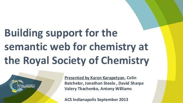 Building support for the semantic web for chemistry at the Royal Society of Chemistry
