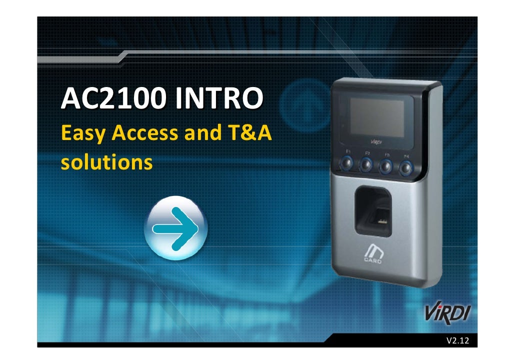 AC2100 INTRO Easy Access and T&A  solutions                            V2.12