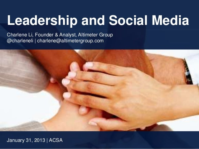 Leadership and Social Media in Education