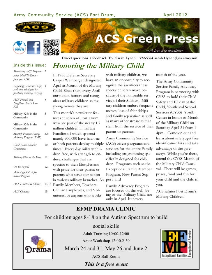 ACS Green Press Newsletter April 2012
