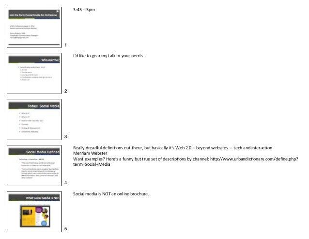 Acso socmedia wkshop roberts notes