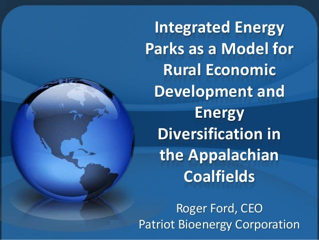 Integrated Energy Parks as a Model for Rural Economic Development and Energy Diversification in the Appalachian Coalfields...