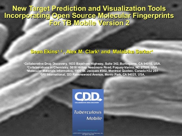 New target prediction and vizualization tools incorporating open source molecular fingerprints for TB Mobile version 2