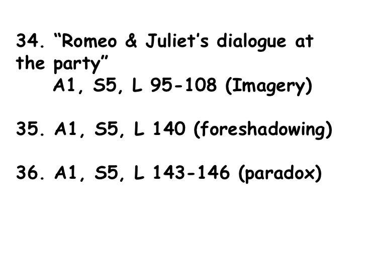 romeo and juliet dialogue