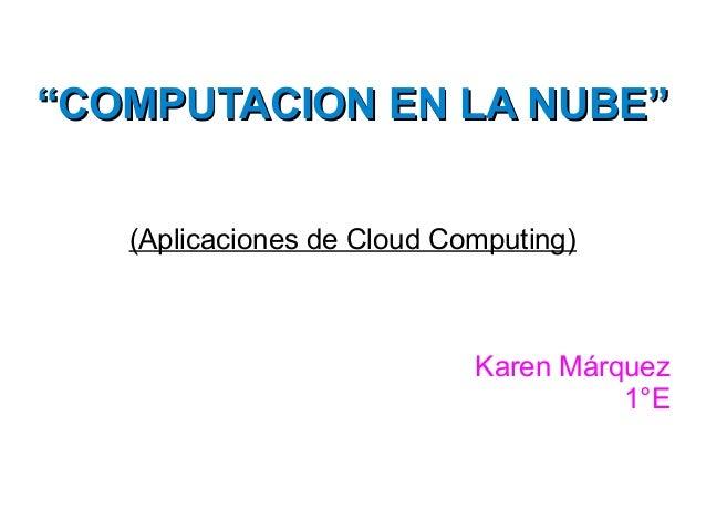 Act. 1 Computación en la nube.