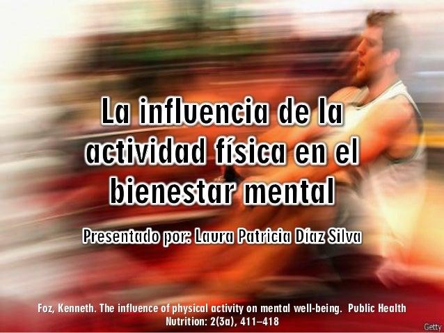 ACTIVIDAD FÍSICA Y SALUD MENTAL - REVISIÓN DE ARTÍCULO