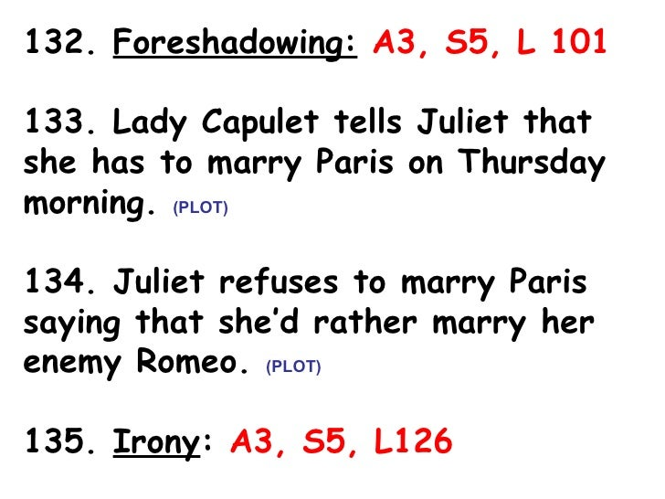 romeo and juliet foreshadowing essay