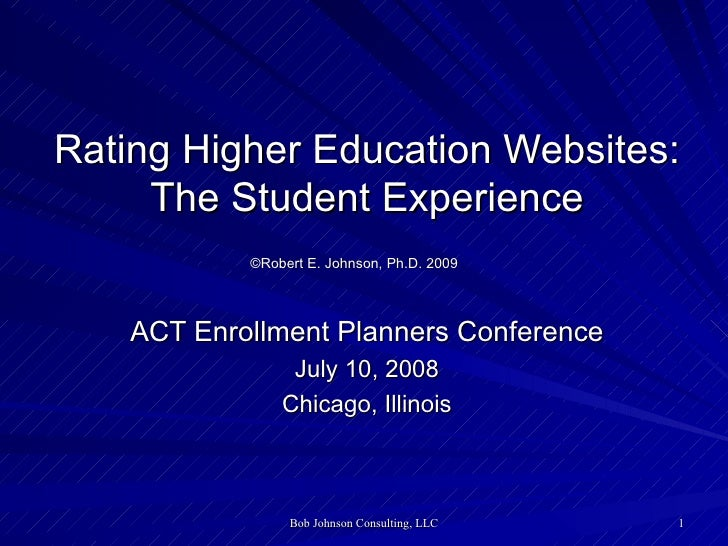 Rating Higher Education Websites: The Student Experience