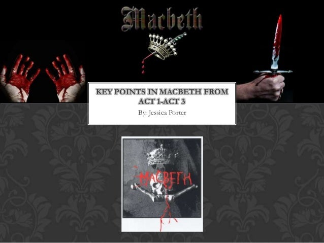 By: Jessica PorterKEY POINTS IN MACBETH FROMACT 1-ACT 3