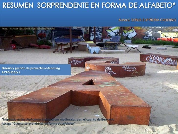 Act 1 resumen diseno gestion proyectos e-learning_sonia espineira caderno