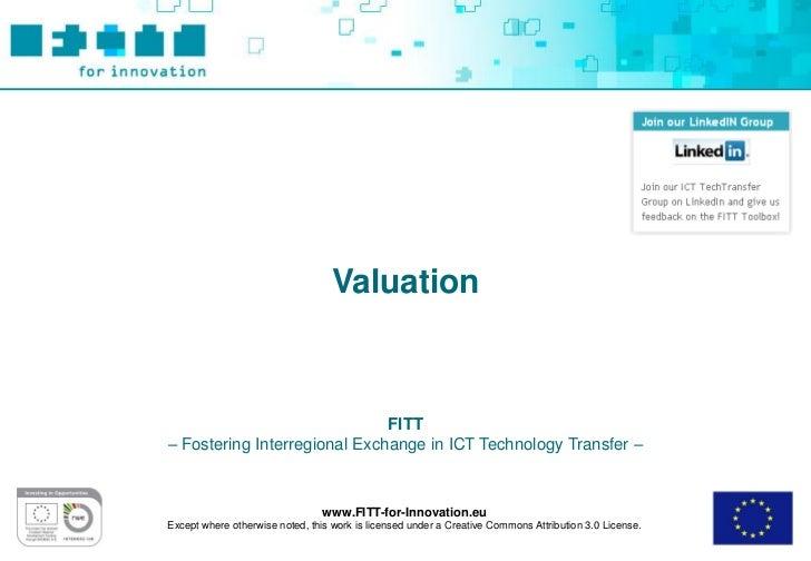 FITT Toolbox: Valuation