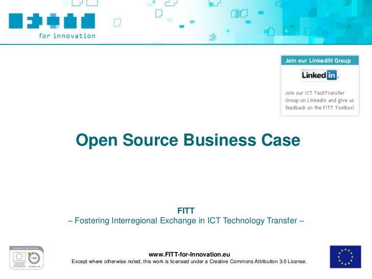 FITT Toolbox: Open Source Business Model