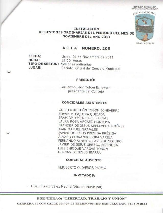 Acta de sesión plenaria Concejo Urrao-205+20111101