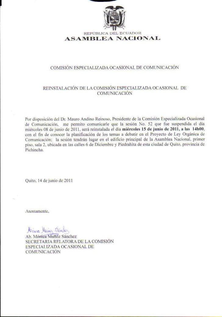 Sesión COC Acta 52 Continuacion  15 06 2011