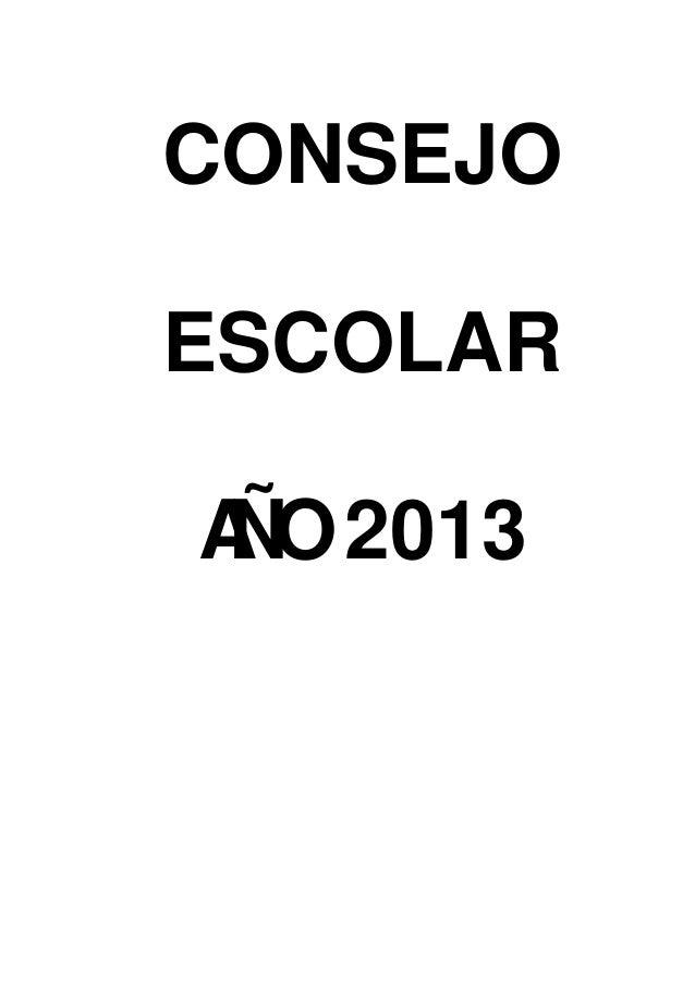 CONSEJOESCOLARA 2013 ÑO