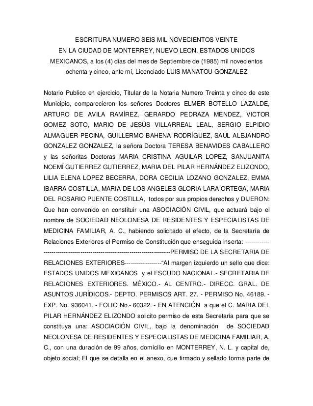 ESCRITURA NUMERO SEIS MIL NOVECIENTOS VEINTE  EN LA CIUDAD DE MONTERREY, NUEVO LEON, ESTADOS UNIDOS  MEXICANOS, a los (4) ...