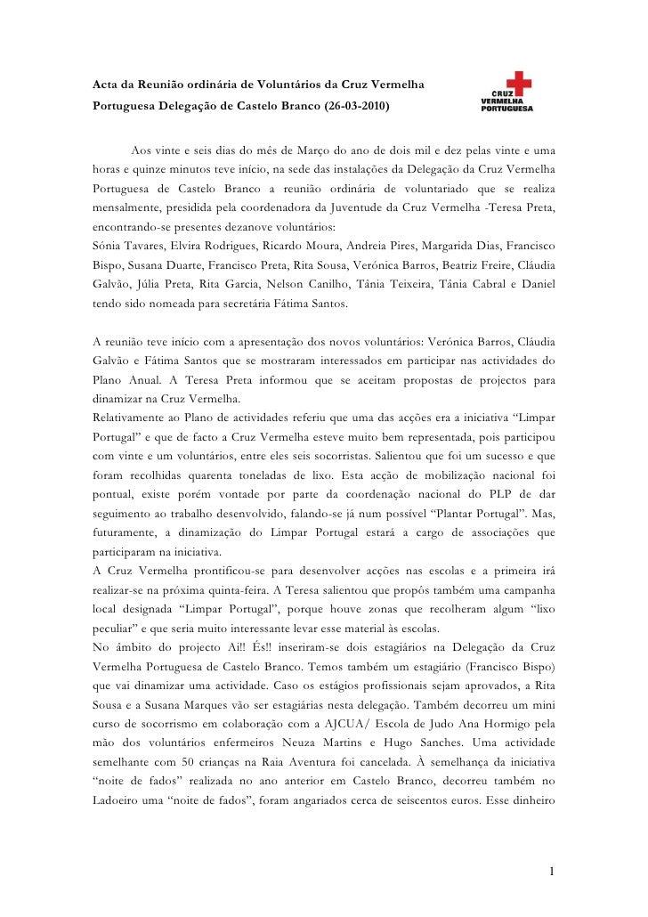 Acta Março 2010