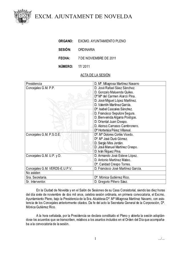 Acta pleno número 17 de 07 11-2011