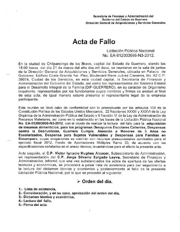 Actas Gobierno de Guerrero