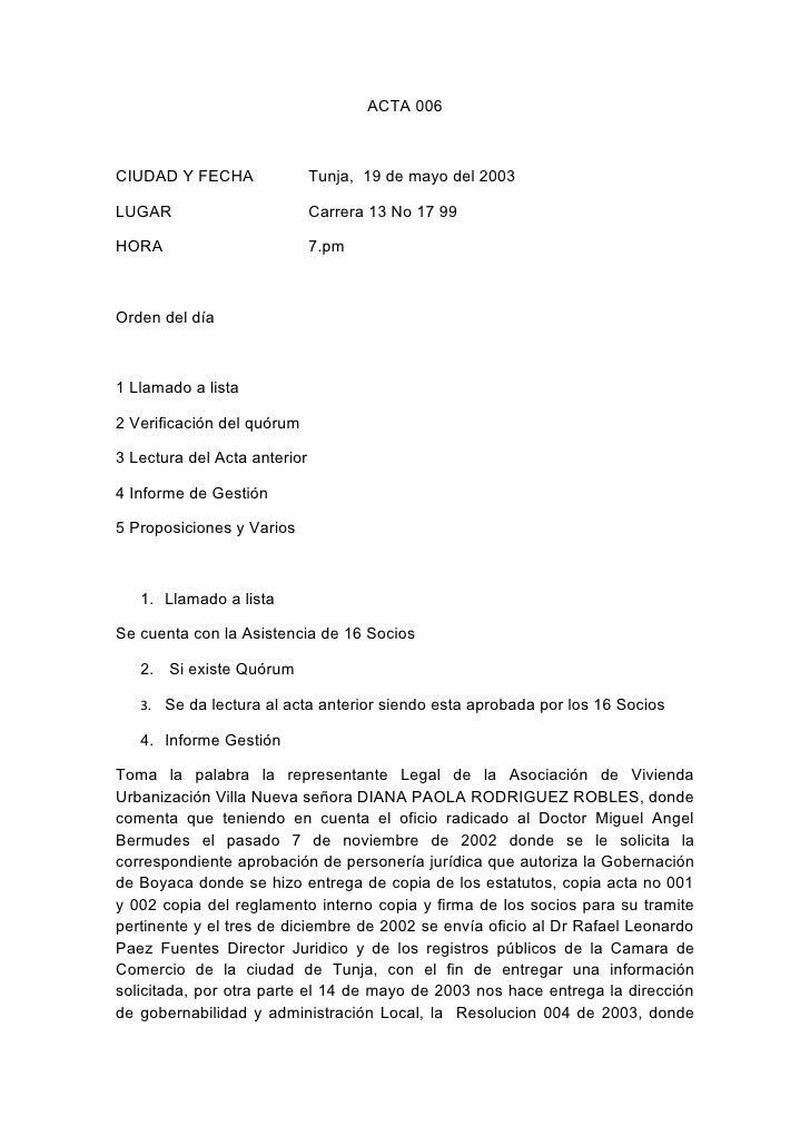 Actas asociacion 2009