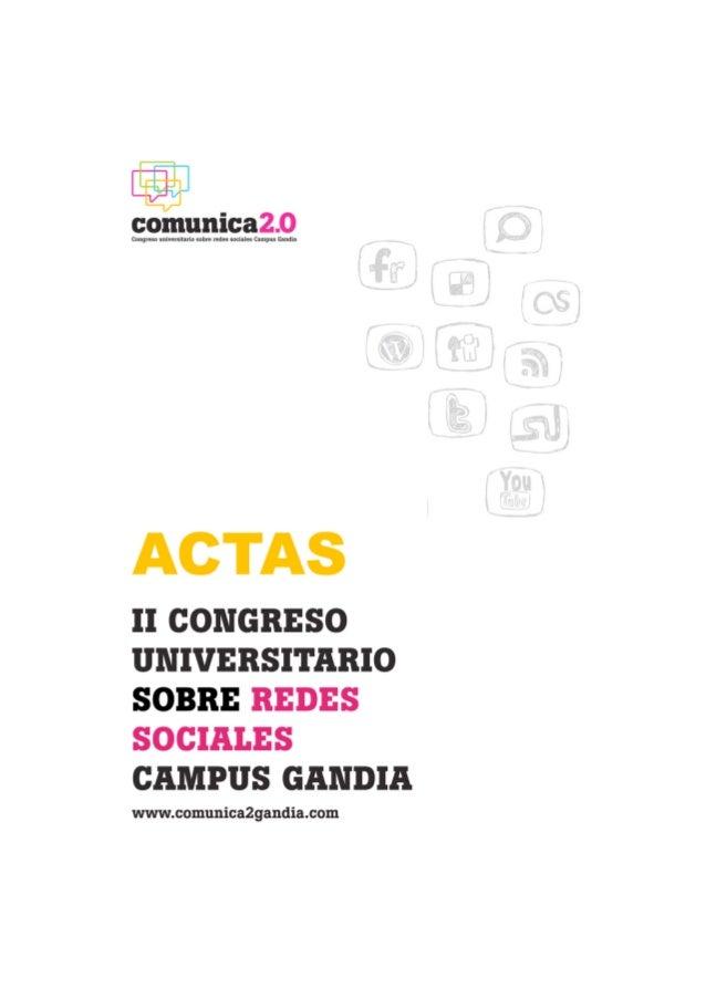 Actas II Congreso Comunica2.0 Campus de Gandia
