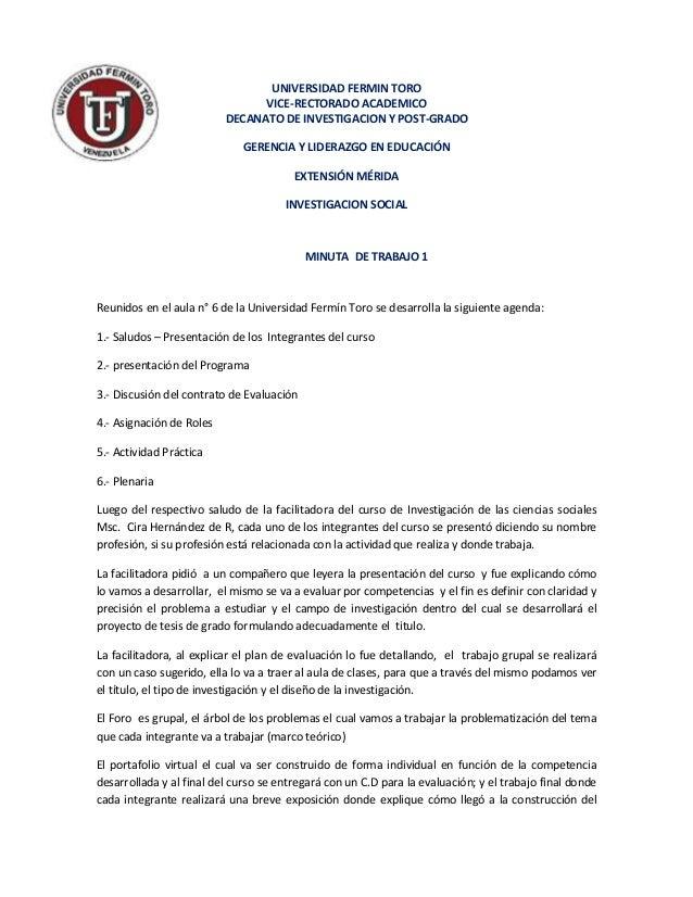 UNIVERSIDAD FERMIN TORO                                VICE-RECTORADO ACADEMICO                          DECANATO DE INVES...