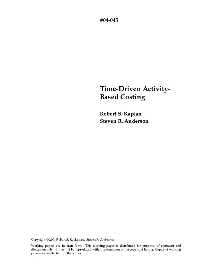 #04-045                                               Time-Driven Activity-                                               ...