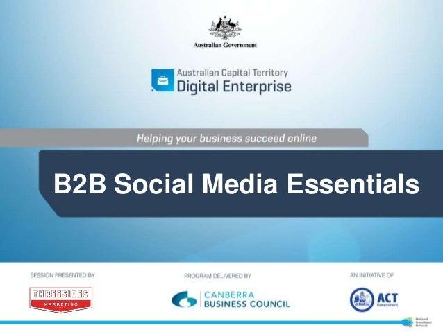 B2B Social Media:  Social media for Business