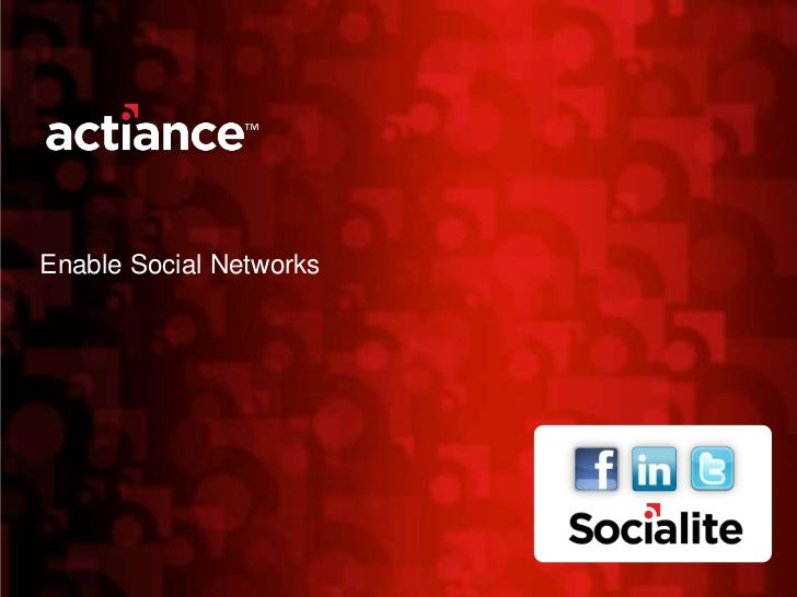Enable Social Networks