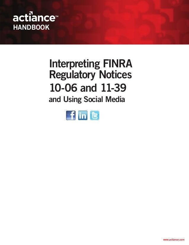 Actiance handbook FINRA