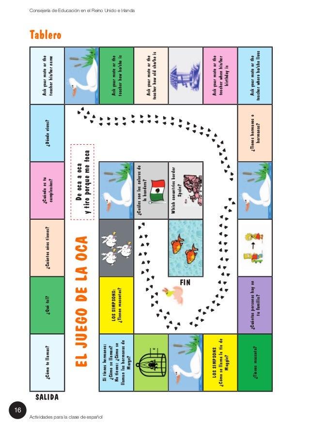 Acti espa a 15 actividades para la clase de espa ol for Actividades divertidas para el salon de clases