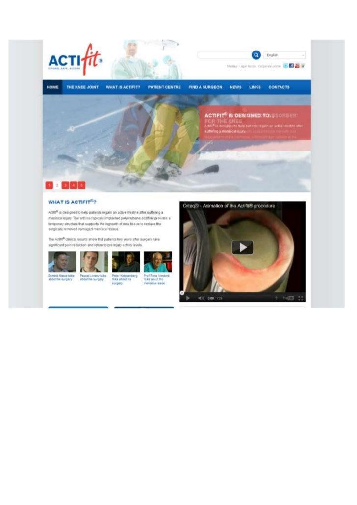 TGJ Communicatie Actifit website English and German version