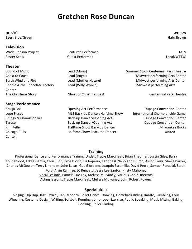 Acting Resume Special Skills Examples Special Skills Skylogic
