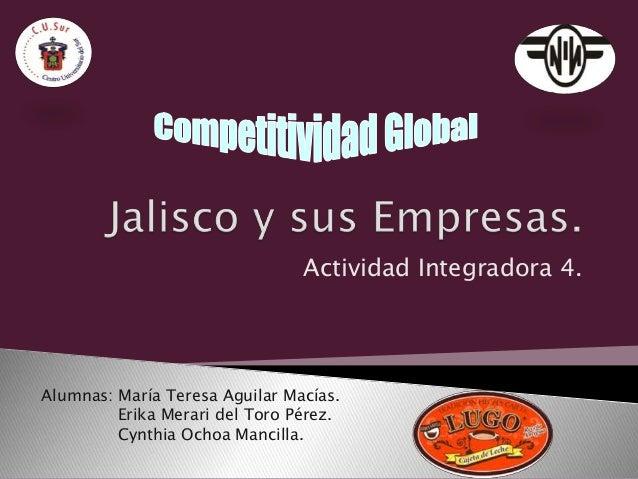 Jalisco y su Empresas (Cajeta Lugo).