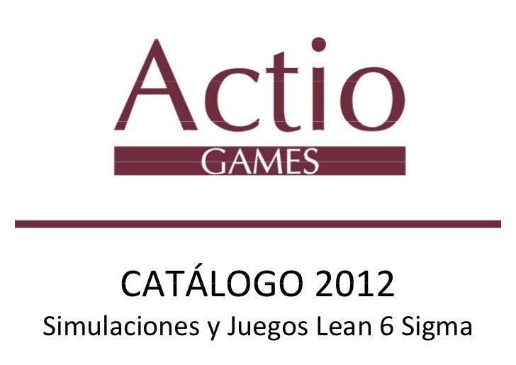 ACTIO GAMES CATÁLOGO 2012