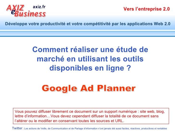 Réaliser une étude de marché soi-même par Google Ad Planner