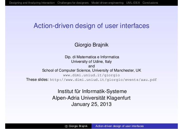 Action-Driven Design of User Interfaces