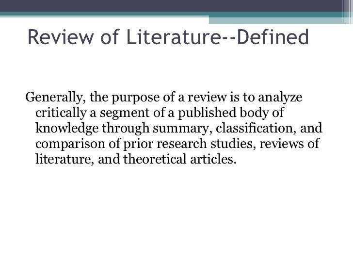 Research in literature