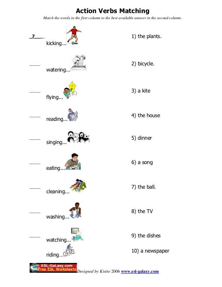 Action%20 verbs%20matching