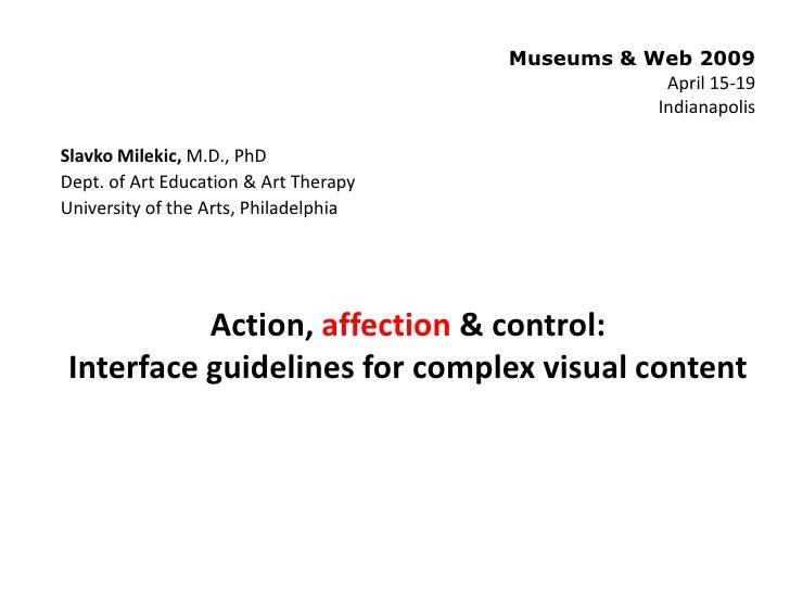 Museums & Web 2009                                                    April 15-19                                         ...