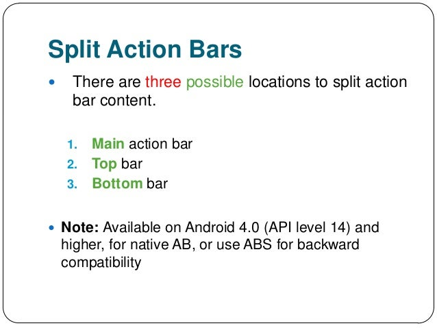 Split Action Bars There Are