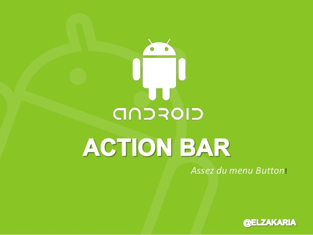 Action bar sous Android