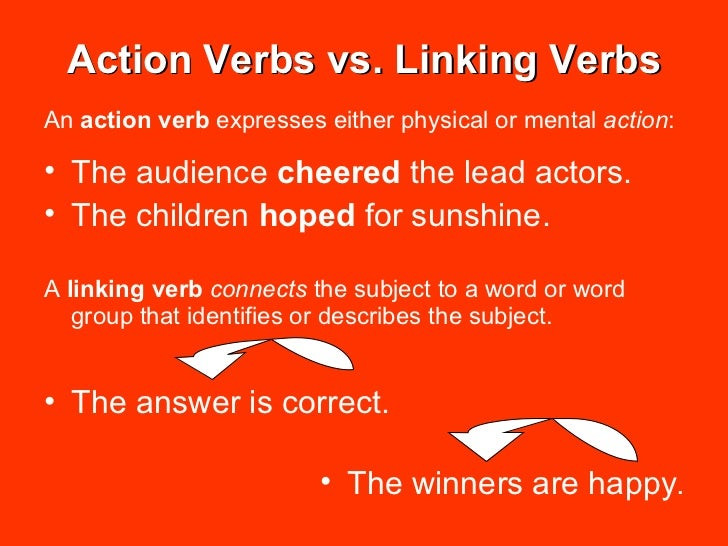 linking verbs in english pdf