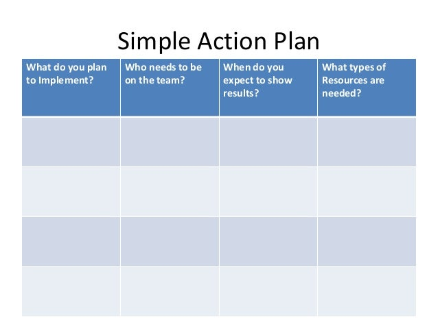 simple action plan template word